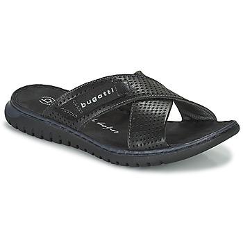Zapatos Hombre Chanclas Bugatti IDAHO Negro