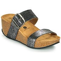 Zapatos Mujer Zuecos (Mules) Plakton SO ROCK Negro / Metalizado