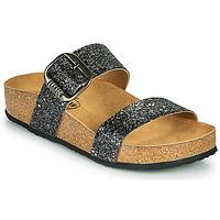 Zapatos Mujer Zuecos (Mules) Plakton ROCK Negro / Brillantina