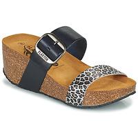 Zapatos Mujer Zuecos (Mules) Plakton SO ROCK Azul / Leopardo