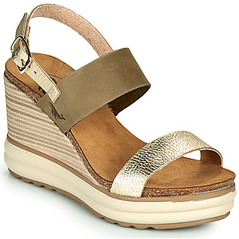 Zapatos Mujer Sandalias Plakton PLAKA Kaki / Oro
