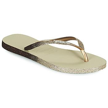 Zapatos Mujer Chanclas Havaianas SLIM SPARKLE II Beige