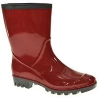 Zapatos Mujer Botas de agua Kelara BOTA AGUA  ROJO Rojo