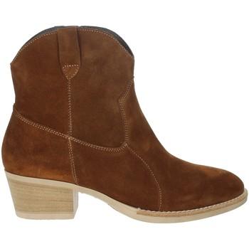 Zapatos Mujer Botines Riposella IC-31 Marrón cuero
