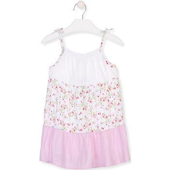 textil Niña Vestidos cortos Losan 016-7030AL Blanco