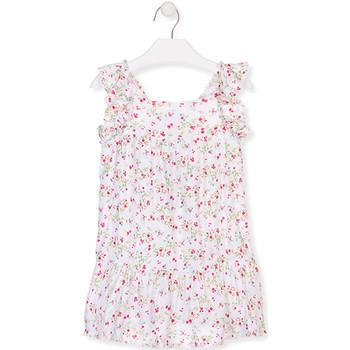 textil Niña Vestidos cortos Losan 016-7031AL Blanco