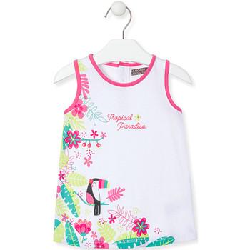 textil Niña Vestidos cortos Losan 018-7005AL Blanco
