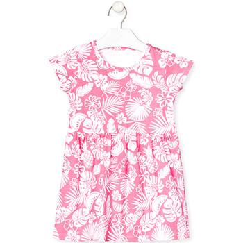 textil Niña Vestidos cortos Losan 018-7042AL Rosado