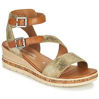Zapatos Mujer Sandalias Remonte Dorndorf BALANCE Oro / Marrón