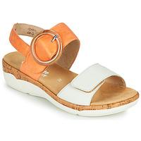 Zapatos Mujer Sandalias Remonte Dorndorf ORAN Naranja / Blanco