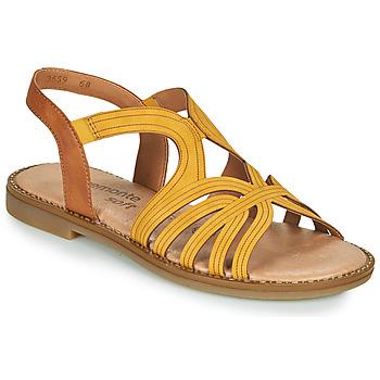 Zapatos Mujer Sandalias Remonte Dorndorf SANDA Amarillo / Marrón
