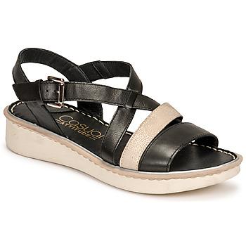 Zapatos Mujer Sandalias Casual Attitude ODETTE Negro / Oro