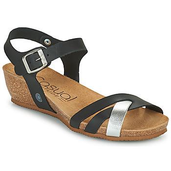 Zapatos Mujer Sandalias Casual Attitude OYA Negro / Plata