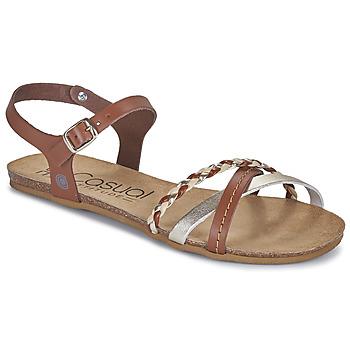 Zapatos Mujer Sandalias Casual Attitude ODIA Camel / Oro
