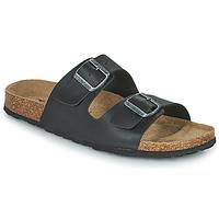 Zapatos Hombre Zuecos (Mules) Casual Attitude OMAO Negro
