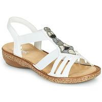 Zapatos Mujer Sandalias Rieker DOLNA Blanco