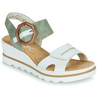Zapatos Mujer Sandalias Rieker SOLLA Verde / Blanco