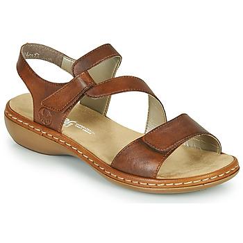 Zapatos Mujer Sandalias Rieker ZAZIE Marrón