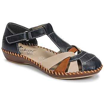 Zapatos Mujer Sandalias Rieker BLUE Azul / Marrón