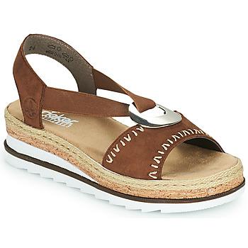 Zapatos Mujer Sandalias Rieker FARRO Marrón