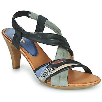 Zapatos Mujer Sandalias Betty London POULOI Negro / Gris