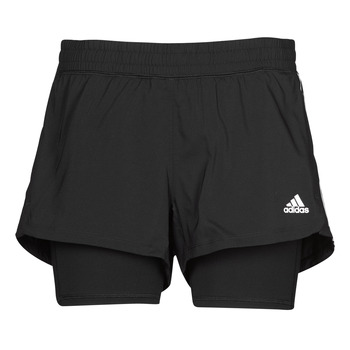 textil Mujer Shorts / Bermudas adidas Performance PACER 3S 2 IN 1 Negro