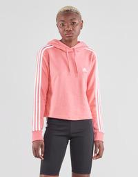 textil Mujer Sudaderas adidas Performance W 3S FT CRO HD Rosa