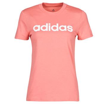 textil Mujer Camisetas manga corta adidas Performance W LIN T Rosa