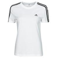 textil Mujer Camisetas manga corta adidas Performance W 3S T Blanco