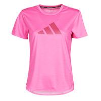 textil Mujer Camisetas manga corta adidas Performance BOS LOGO TEE Rosa