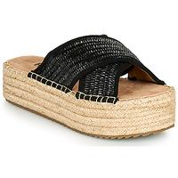 Zapatos Mujer Zuecos (Mules) Refresh TERRA Negro