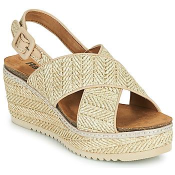 Zapatos Mujer Sandalias Refresh AMELA Beige