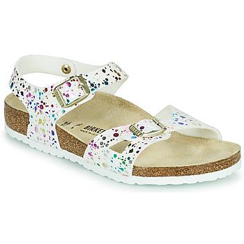 Zapatos Niña Sandalias Birkenstock RIO Blanco