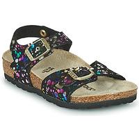 Zapatos Niña Sandalias Birkenstock RIO Negro / Multicolor