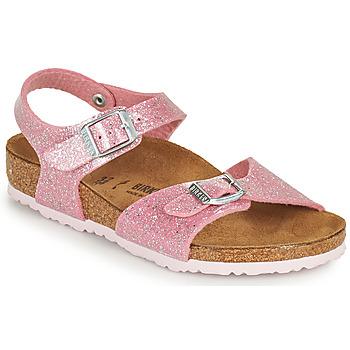 Zapatos Niña Sandalias Birkenstock RIO PLAIN Rosa