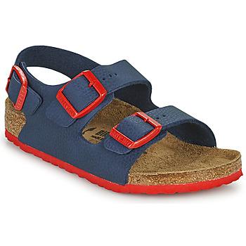 Zapatos Niño Sandalias Birkenstock MILANO Azul / Rojo