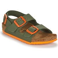 Zapatos Niño Sandalias Birkenstock MILANO Kaki / Naranja
