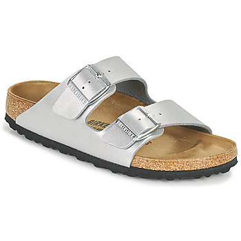 Zapatos Mujer Zuecos (Mules) Birkenstock ARIZONA Plata