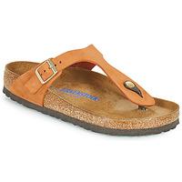 Zapatos Mujer Chanclas Birkenstock GIZEH SFB Naranja