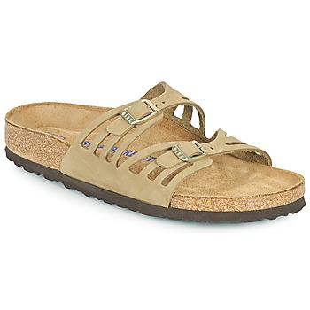 Zapatos Mujer Zuecos (Mules) Birkenstock GRANADA SFB Kaki