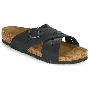 Zapatos Hombre Zuecos (Mules) Birkenstock LUGANO Negro
