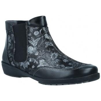 Zapatos Mujer Botines Suave 3025 Botines Tobilleros de Mujer Negro