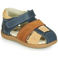 Zapatos Niño Sandalias Citrouille et Compagnie OLOSS Azul / Marrón