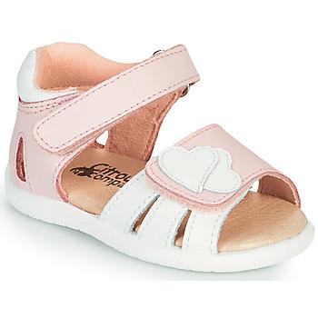Zapatos Niña Sandalias Citrouille et Compagnie OLESS Rosa / Blanco