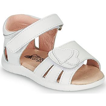Zapatos Niña Sandalias Citrouille et Compagnie OLESS Blanco