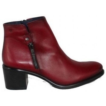 Zapatos Mujer Botines Dorking BOTIN CON CREMALLERA EXTERIOR DE Rojo