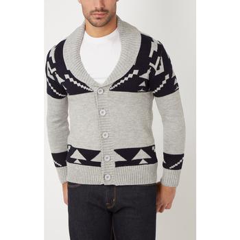 textil Hombre Chaquetas de punto War Wolf WH68066 GRIS