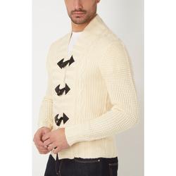 textil Hombre Chaquetas de punto War Wolf WH68069 BEIGE