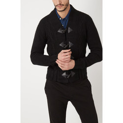 textil Hombre Chaquetas de punto War Wolf WH68069 NEGRO