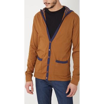 textil Hombre Chaquetas de punto War Wolf WY68201 MARRON